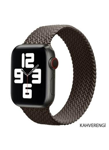 Techmaster Apple Watch 1 2 3 4 5 6 42mm 44mm Solo Loop TME Kordon Medium Kahve